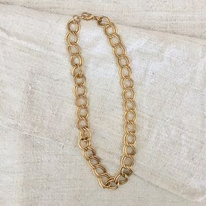 Jewelry - Vintage Gold Double Chain Link Necklace
